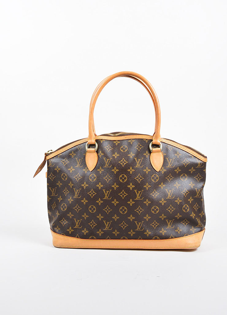 "Brown Louis Vuitton Monogram Canvas and Leather ""Lockit Horizontal"" Shoulder Bag Frontview"