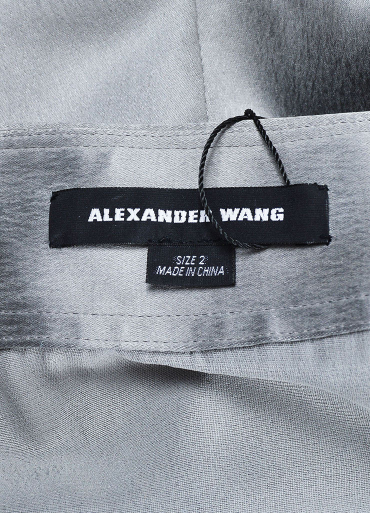 Grey Alexander Wang Silk Pleated Zipped Shorts Brand