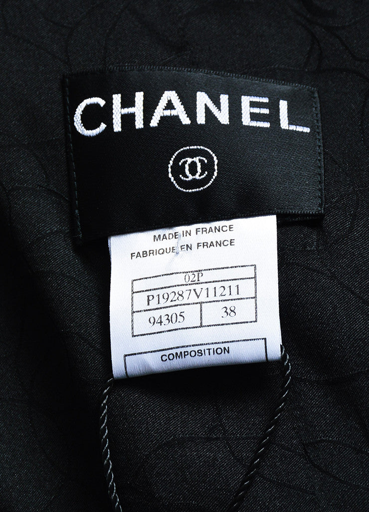Chanel Black Wool Waffle Weave Utilitarian Button Pocket Jacket Brand