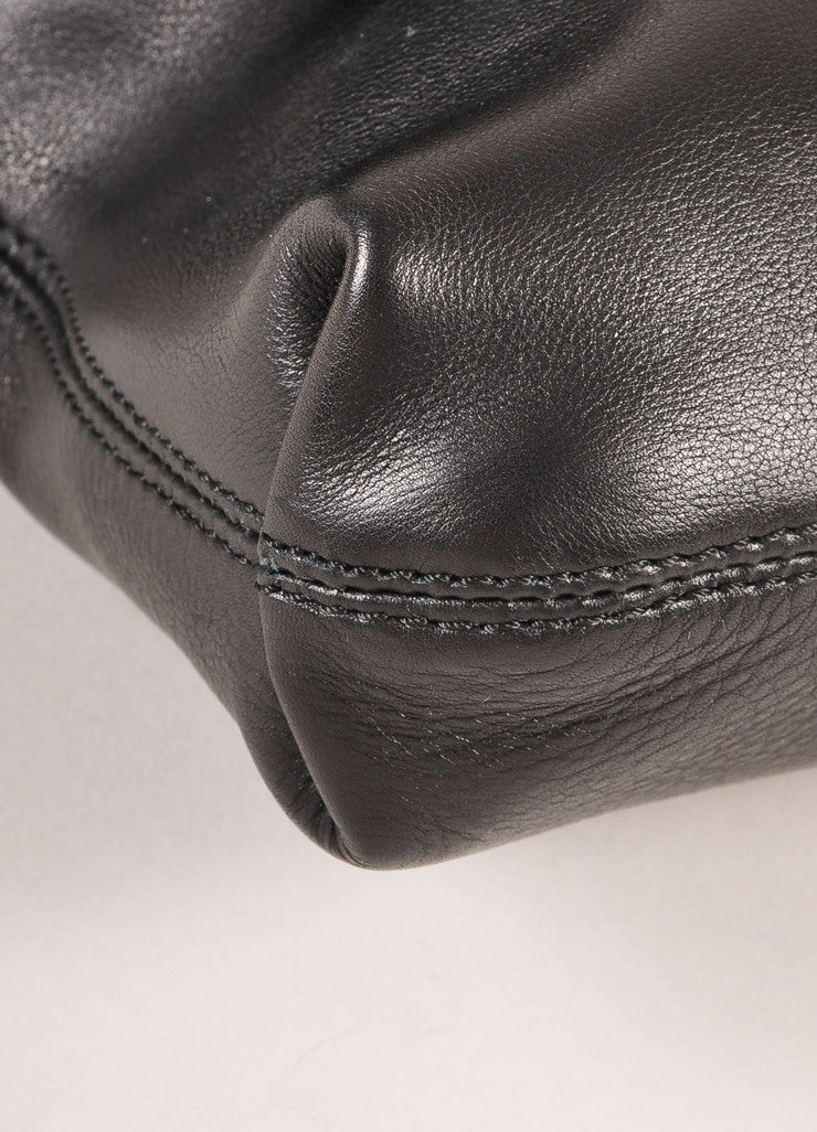 "Lanvin Black Leather ""Happy Mini Pop"" Bag Detail"