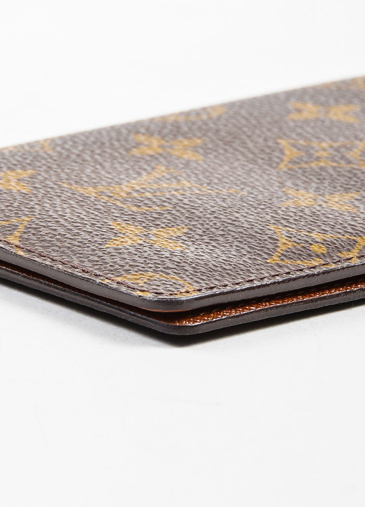 Louis Vuitton Brown and Tan Coated Canvas Pocket Agenda Cover Detail