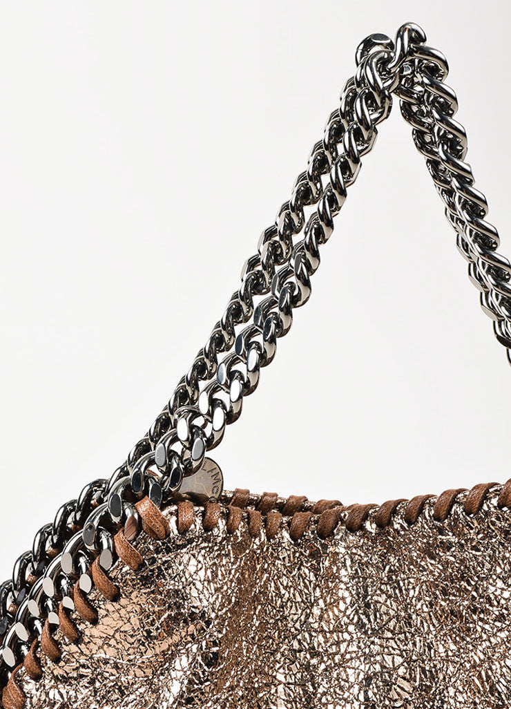 "Stella McCartney Bronze Metallic Mini ""Falabella"" Chain Strap Tote Bag Detail"