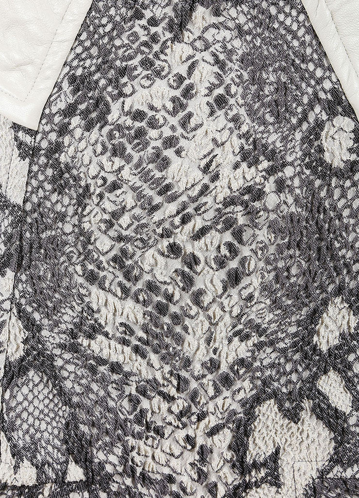 Yigal Azrouel Grey Reptile Texture Stretch Jacquard Skirt Detail