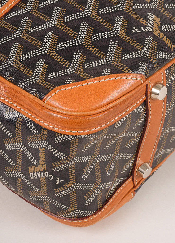 "Goyard Black Coated Canvas Hand Painted Printed Monogram ""St. Martin"" Bag Detail"