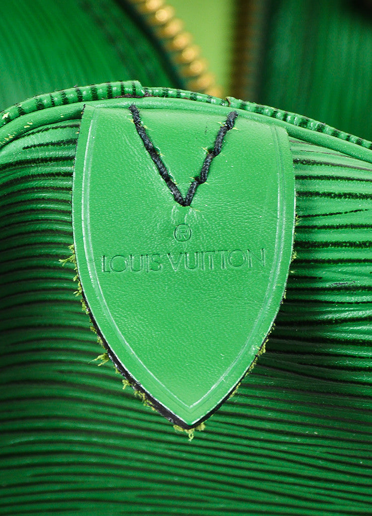 "Louis Vuitton Borneo Green Epi Leather ""Keepall 55"" Travel Duffel Bag Brand"