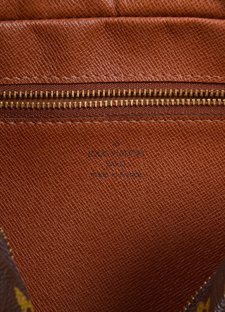 "Louis Vuitton Brown Coated Canvas Leather Monogram ""Trocadero 27"" Cross Body Bag Brand"
