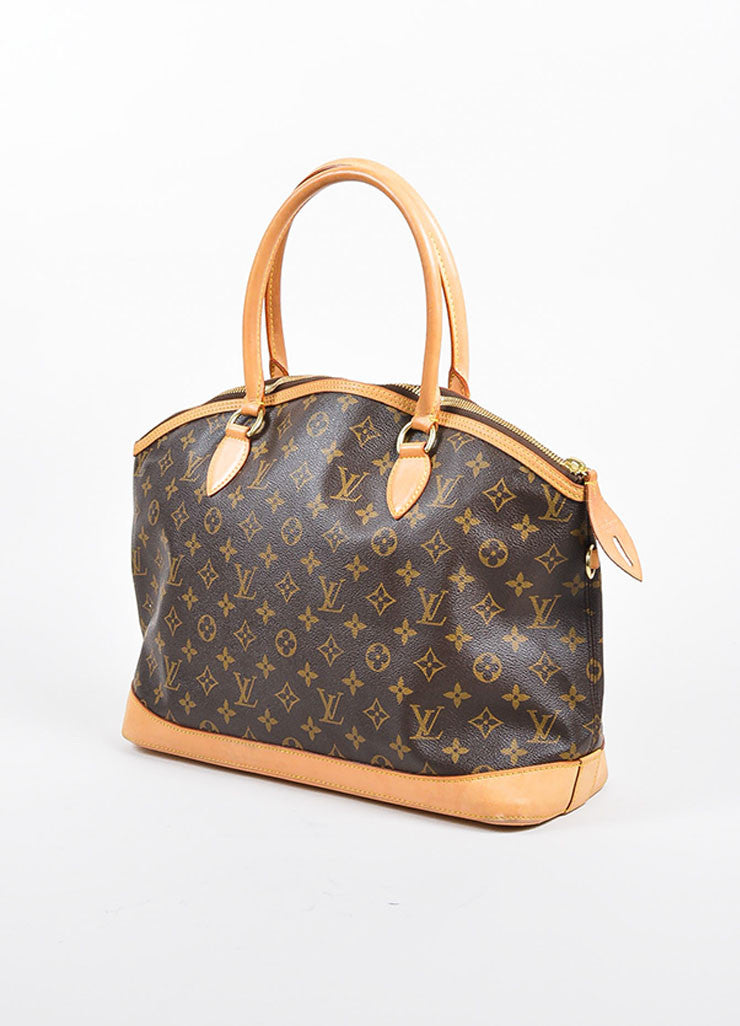 "Brown Louis Vuitton Monogram Canvas and Leather ""Lockit Horizontal"" Shoulder Bag Sideview"