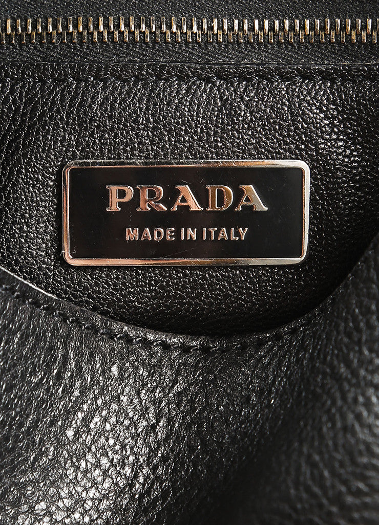 Prada Black Leather Saddle Bag Brand