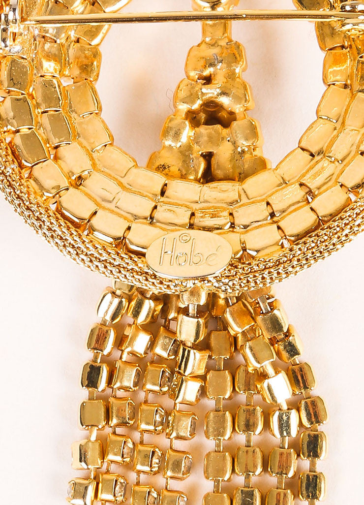 Hobe Vintage Gold Toned Heart Collar Statement Necklace Brand
