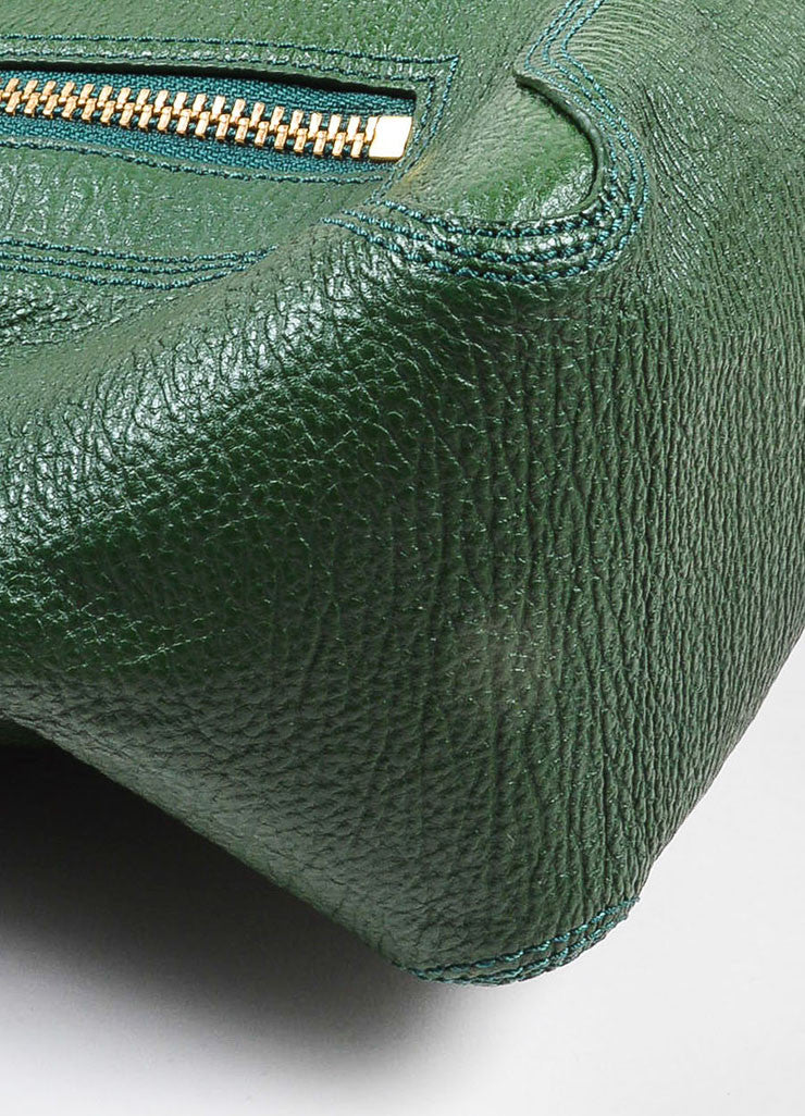"3.1 Phillip Lim Jade Textured Leather Large ""Pashli"" Satchel Bag Detail"
