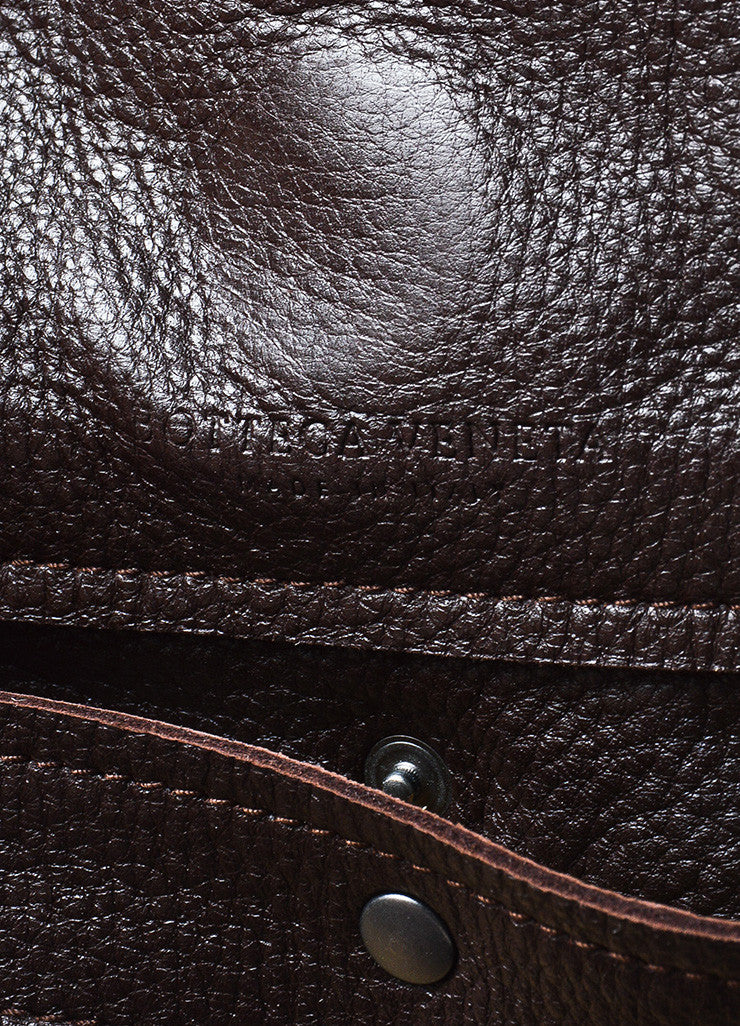 Bottega Veneta Brown Leather Woven Braided Handle Slouchy Hobo Shoulder Bag Brand