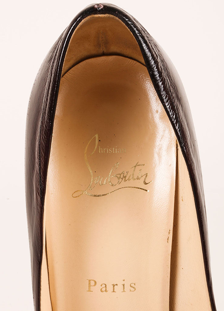 Christian Louboutin Black Eel Leather Decollete 868 Pumps Brand