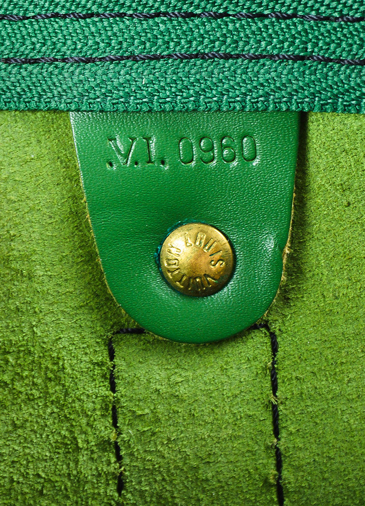 "Louis Vuitton Borneo Green Epi Leather ""Keepall 55"" Travel Duffel Bag Date code"