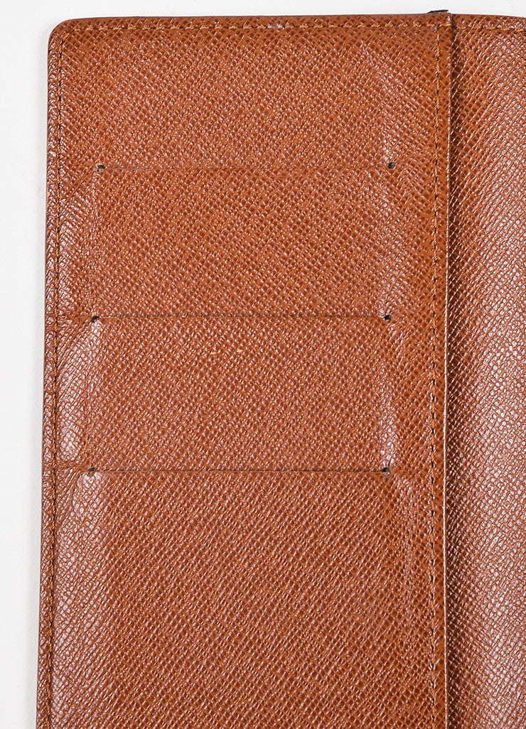 Louis Vuitton Brown and Tan Coated Canvas Pocket Agenda Cover Interior 2