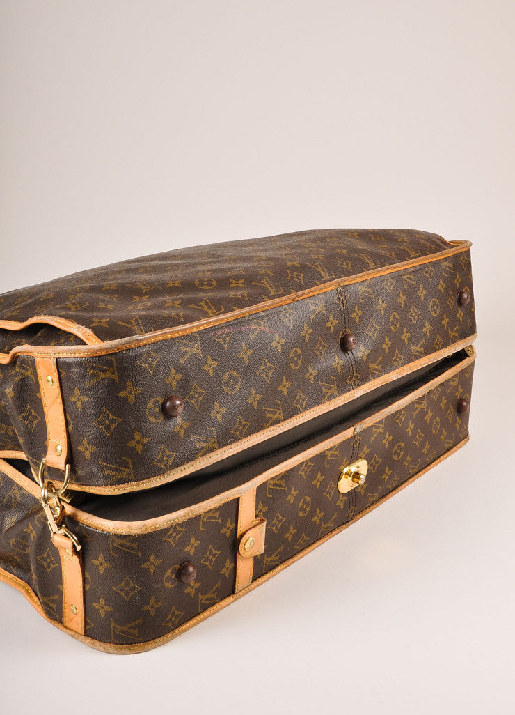 Louis Vuitton Brown and Tan Monogram Coated Canvas Garment Bag Bottom View