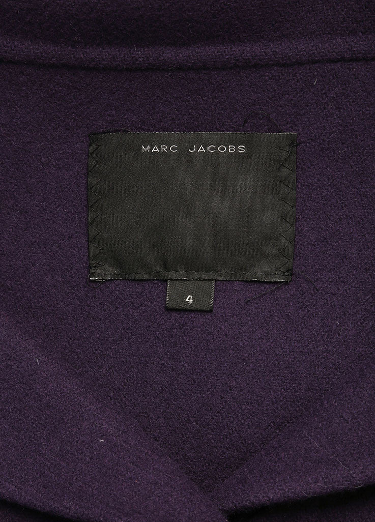 Marc Jacobs Purple Wool Buttoned and Collared Cape Brand