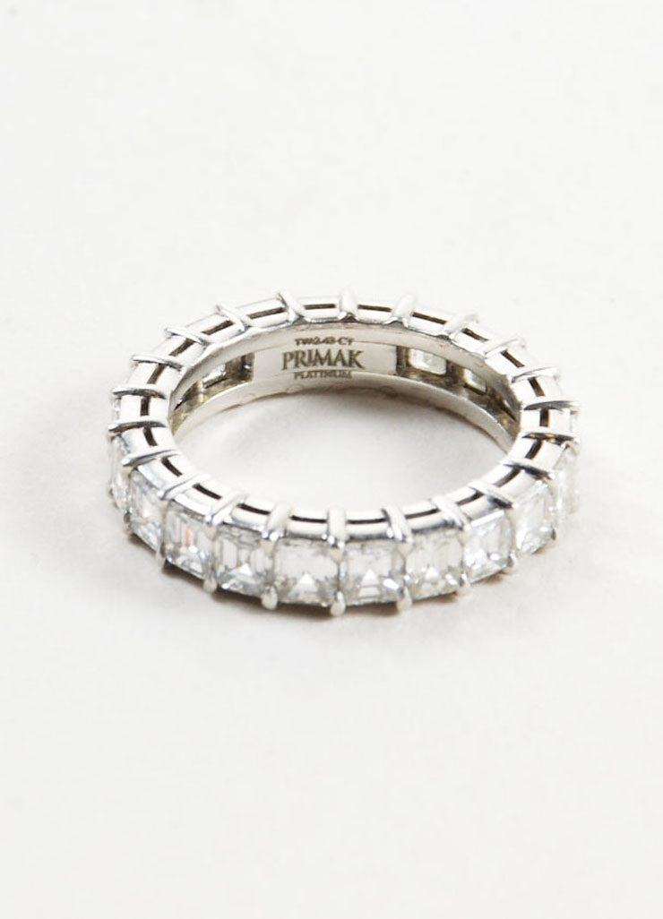 Sasha Primak Platinum and 2.43ct Emerald Cut Diamond Wedding Band Brand