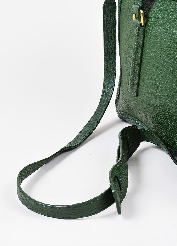 "3.1 Phillip Lim Jade Textured Leather Large ""Pashli"" Satchel Bag Detail 2"