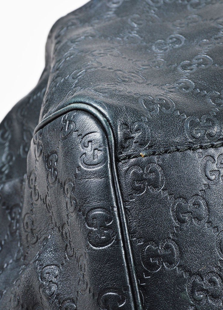 "Gucci Black Leather Guccissima Large ""Sukey"" Tote Bag Detail"