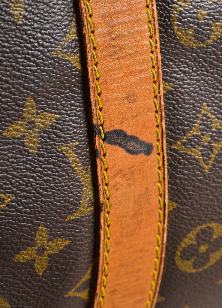 "Louis Vuitton  Brown Canvas and Leather Monogram ""Keepall 55 Bandouliere"" Bag Detail 2"