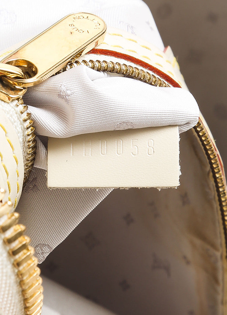 "Louis Vuitton Cream and Gold Toned Suhali Leather Studded ""Le Superbe"" Satchel Bag Date Code"