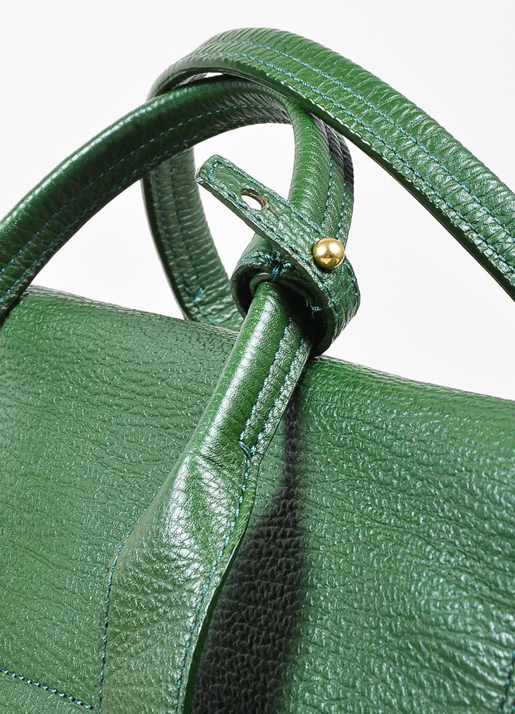 "3.1 Phillip Lim Jade Textured Leather Large ""Pashli"" Satchel Bag Detail 3"