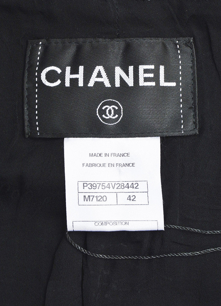 Black and White Chanel Tweed Two Button Jacket Brand