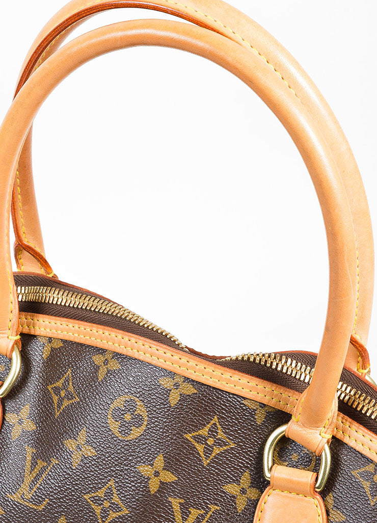 "Brown Louis Vuitton Monogram Canvas and Leather ""Lockit Horizontal"" Shoulder Bag"