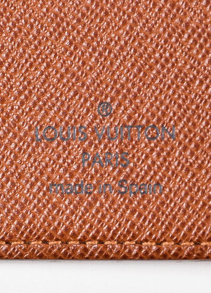 Louis Vuitton Brown and Tan Coated Canvas Pocket Agenda Cover Brand