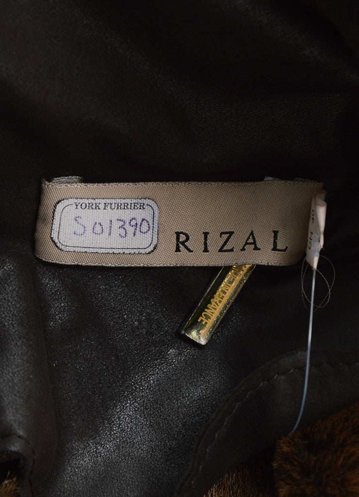 Rizal Dark Brown Shearling Long Tailored Winter Coat Brand