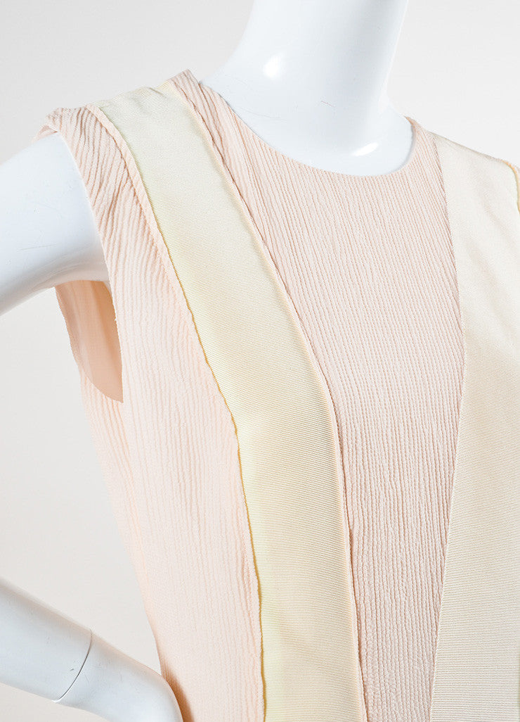 Bottega Veneta Blush and Cream Sleeveless Floor Length Evening Gown Detail