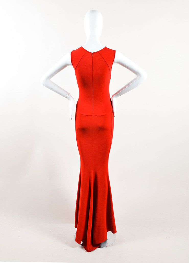 Stella McCartney Red Sleeveless Stretch Gown Backview