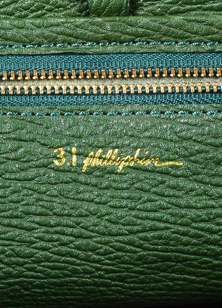 "3.1 Phillip Lim Jade Textured Leather Large ""Pashli"" Satchel Bag Brand"