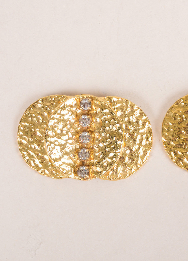 Bluette Gold Toned Rhinestone Embellished Shoe Clips Detail