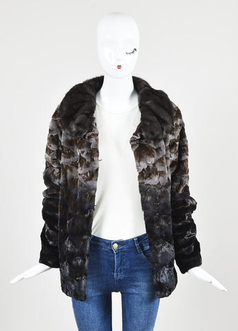 Christian Cota Brown Ombre Sheared Mink Coat Frontview