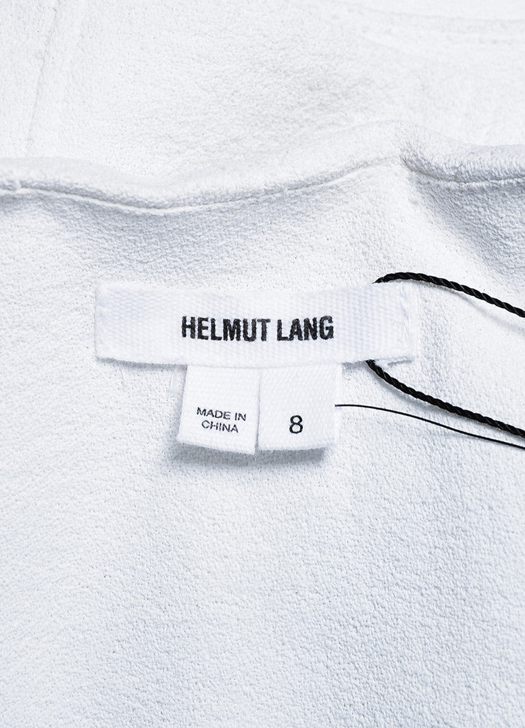 "Helmut Lang White and Black Crepe Asymmetrical ""Sugar"" Jacket Brand"