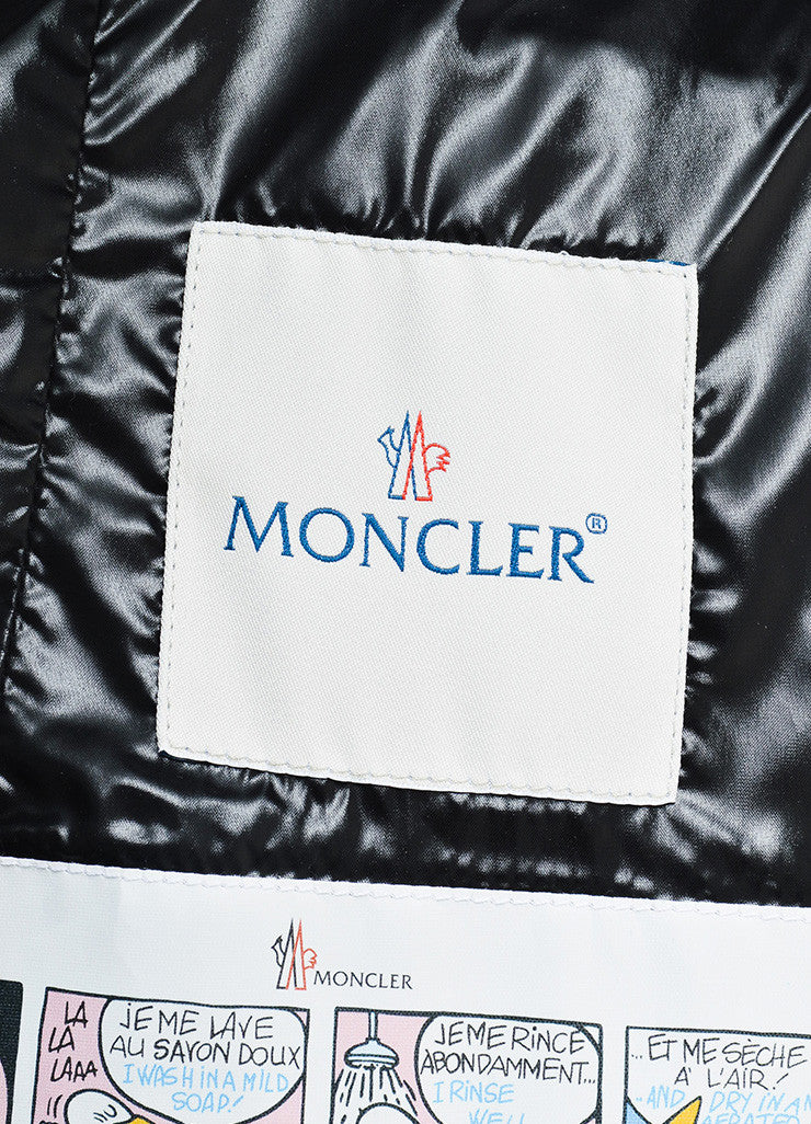 "Moncler Black Nylon Quilted Fur ""Armoise"" Down Puffer Coat Jacket Brand"