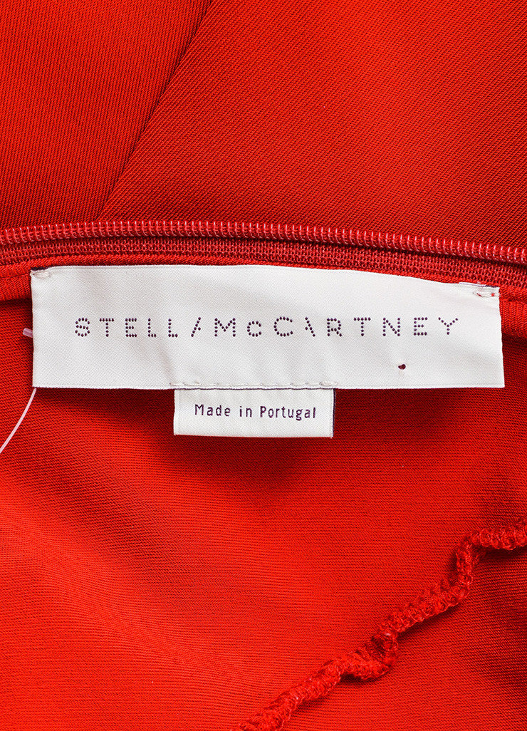 Stella McCartney Red Sleeveless Stretch Gown Brand