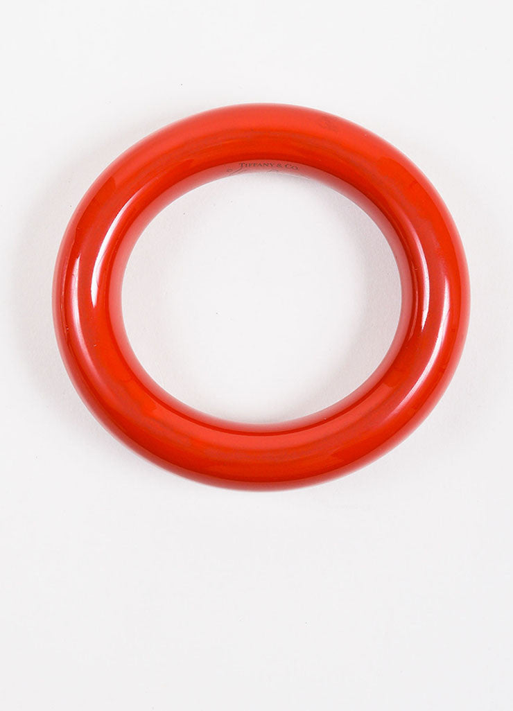 "Tiffany & Co. Elsa Peretti Red Lacquered Japanese Hardwood ""Doughnut"" Bangle topview"