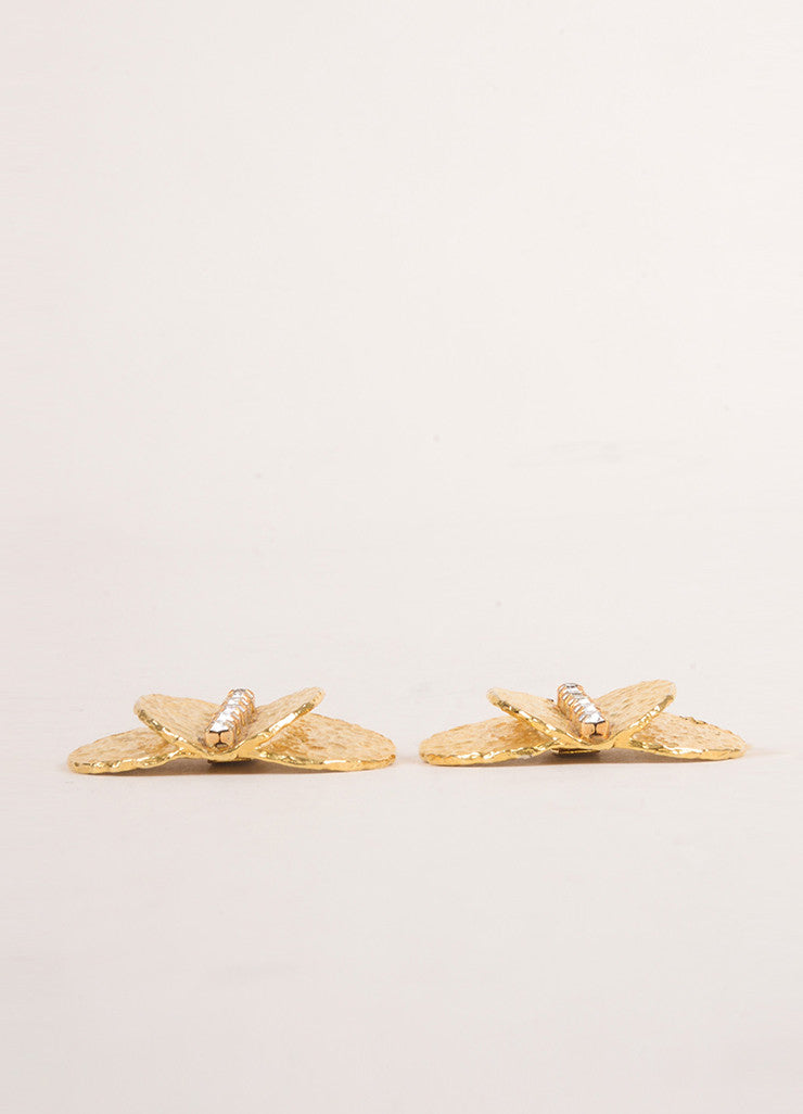 Bluette Gold Toned Rhinestone Embellished Shoe Clips Sideview