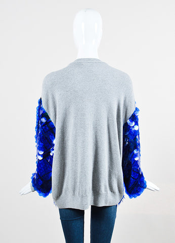 "Blue Preen by Thornton Silk and Cashmere Sequin ""Hoxton"" Sweatshirt Backview"