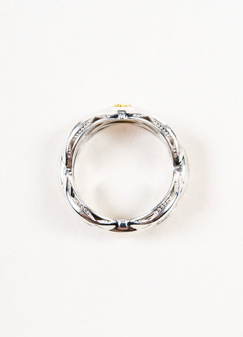 Tacori Sterling Silver Ivy Lane Crescent Links Stacking Ring Topview