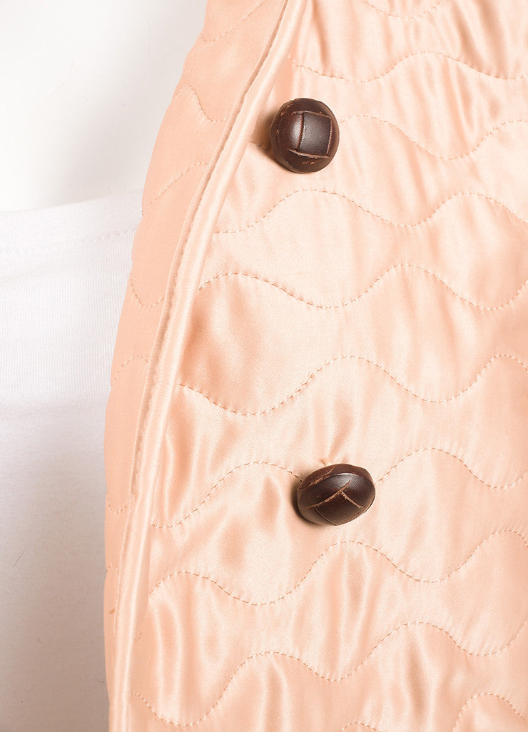 Yves Saint Laurent Light Pink Quilted Long Sleeve Jacket Detail