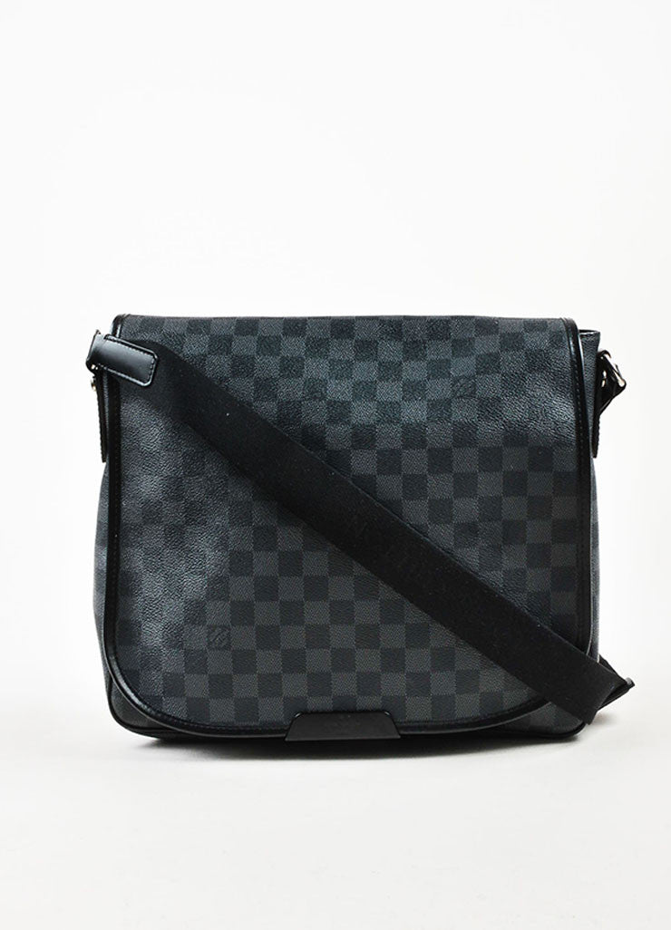 "Louis Vuitton Damier Graphite Coated Canvas ""Daniel"" Top Flap Messenger Bag Frontview"