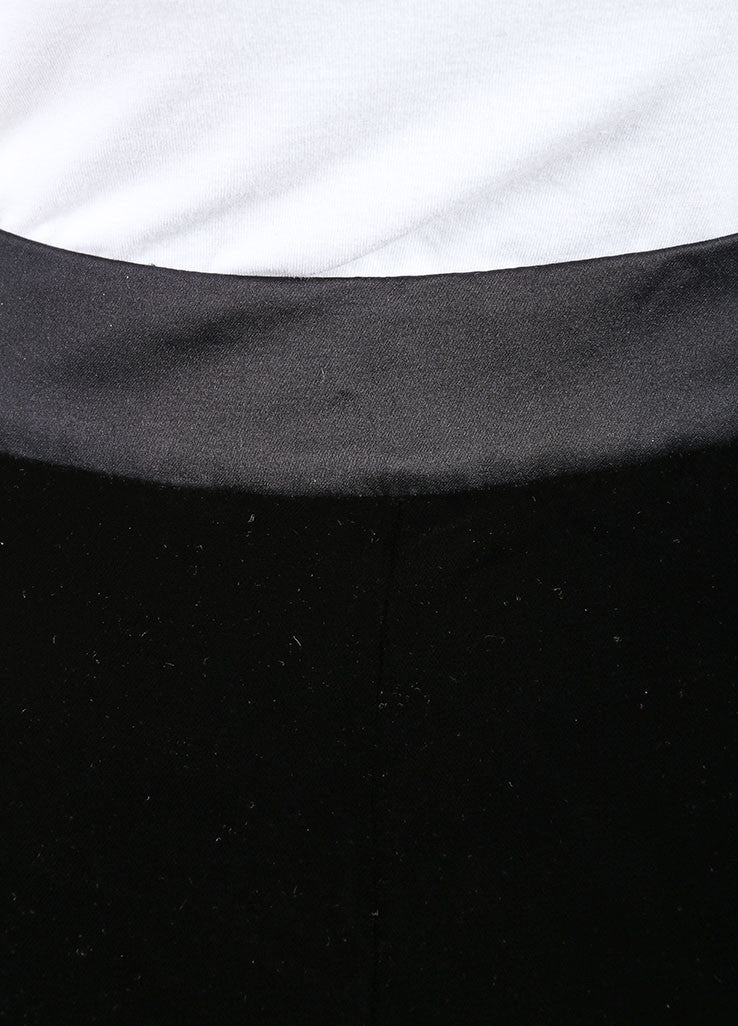 Oscar de la Renta New With Tags Black Velvet Tuxedo Pants Detail