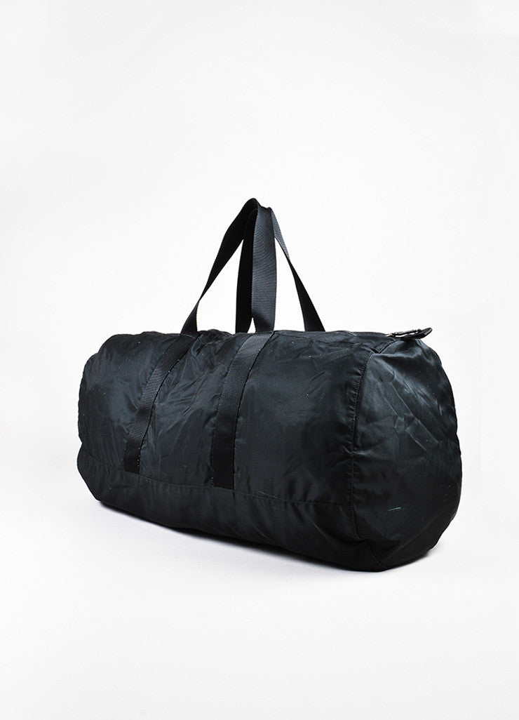 Prada Black Nylon Oversized Overnight Travel Carryall Duffel Bag Back