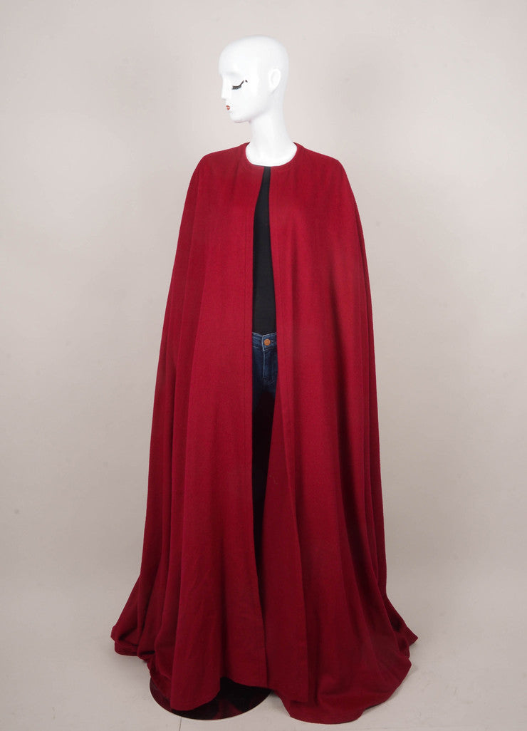 Maroon Long Felt Cape