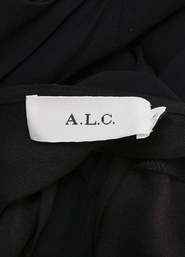 "A.L.C. New With Tags Navy and White Contrast Sleeveless Wrap ""Kweli"" Dress Brand"
