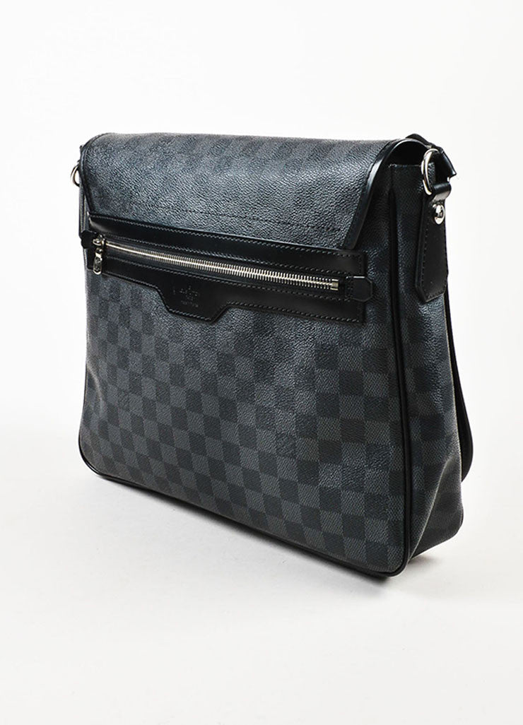 "Louis Vuitton Damier Graphite Coated Canvas ""Daniel"" Top Flap Messenger Bag Sideview"