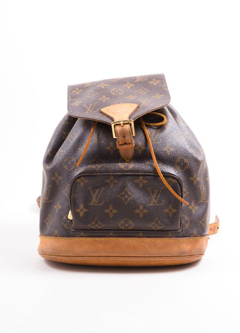 "Louis Vuitton Brown Monogram Canvas ""Montsouris MM"" Backpack Frontview"